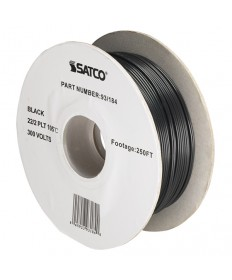 Satco 93/184 Satco 93-184 Black 22/2 Wire 250FT Spool Wire
