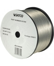 Satco 93/304 Satco 93-304 Clear Silver 2500FT 18/2 SPT-1.5 105C Wire Reel