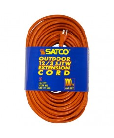 Satco 93/5019 100 Foot Orange Heavy Duty Outdoor Extension Cord
