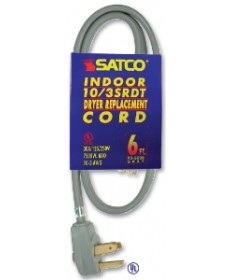Satco 93/5032 Satco 3 Feet 3 Wire Replacement Range Cord