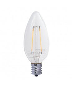Bulbrite 776557 | 4-Watt LED Filament B11 Chandelier Bulb, 40W