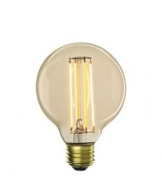 Bulbrite 776600 | 5 Watt LED Nostalgic Filament G25 Bulb, Medium (E26)