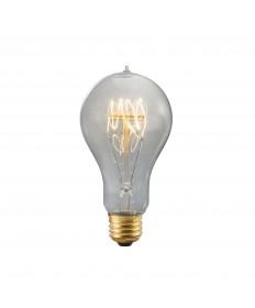 Bulbrite 156020 | 60 Watt Nostalgic Edison A19 Bulb, Vintage Quad Loop
