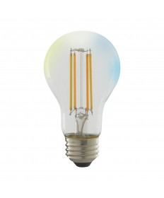 Satco S11250 5 Watts A19 LED Light Bulb Tunable White Clear Starfish Smart Bulb 120 Volts
