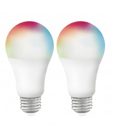 Satco S11253 9.5A19/LED/RGB/TW/SF/2PK 9.5 Watts 120 Volts LED Light