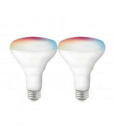 Satco S11256 9.5 Watts BR30 LED Smart Bulb RGB Tunable White Starfish Smart Bulb 120 Volts (2 Pack)