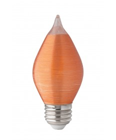 Satco S23412 4 Watts C15 LED Satin Spun Amber Medium base 2100K 120V Light Bulb