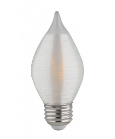 Satco S23413 4 Watts C15 LED Satin Spun Clear Medium base 2700K 120V Light Bulb