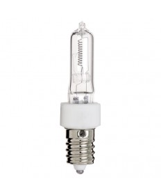 Satco S3491 Satco 100Q/CL/E14 100 Watt 120 Volt T4 E14 European Base Clear Halogen Light Bulb