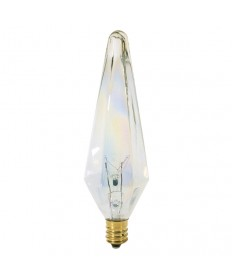 Satco S3749 Satco 40HX10.5/AU 40 Watt 120 Volt HX10.5 Candelabra Base Prismatic Aurora Incandescent Light Bulb - DISCONTINED