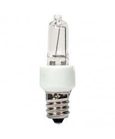 Satco S4480 Satco KX20CL/3M/E12 20 Watt 120 Volt T3 Dimmable E12 Candelabra Base Clear Krypton Xenon Halogen Light Bulb