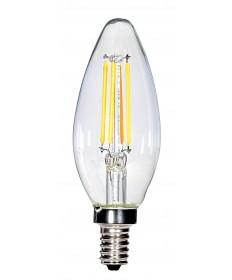 Satco S28613 4 Watts C11 LED Clear Candelabra Base 2700K 120V