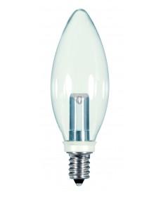 Satco S9152 1W CTC/LED/120V/CD 1 Watts 120 Volts 2700K LED Light Bulb