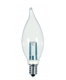 Satco S9153 1W CFC/LED/120V/CD 1 Watts 120 Volts 2700K LED Light Bulb