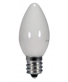 Satco S9157 0.5W C7/WH/LED/120V/CD 0.5 Watts 120 Volts 2700K LED Light