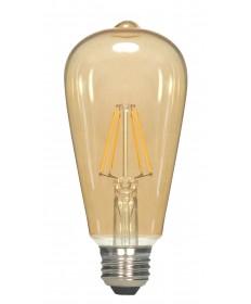 Satco S9578 4.5ST19/AMB/LED/E26/23K/120V 4.5 Watts 120 Volts 2300K LED