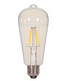 Satco S9581 6.5ST19/CL/LED/E26/27K/120V 6.5 Watts 120 Volts 2700K LED