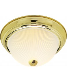 """Nuvo Lighting SF76/134 3 Light 15"""" Flush Mount Frosted Ribbed"""