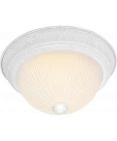 """Nuvo Lighting SF76/135 3 Light 15"""" Flush Mount Frosted Ribbed"""