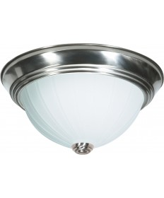 "Nuvo Lighting SF76/244 2 Light 13"" Flush Mount Frosted Melon Glass"