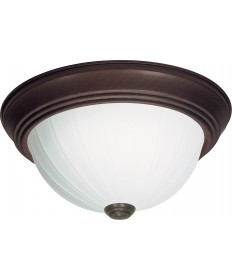 "Nuvo Lighting SF76/248 3 Light 15"" Flush Mount Frosted Melon Glass"