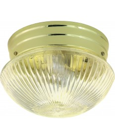 "Nuvo Lighting SF76/250 1 Light 8"" Flush Mount Small Clear Ribbed"