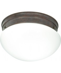 "Nuvo Lighting SF76/602 2 Light 10"" Flush Mount Medium White Mushroom"