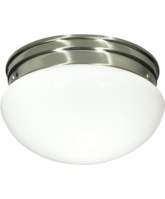 "Nuvo Lighting SF76/603 2 Light 10"" Flush Mount Medium White Mushroom"