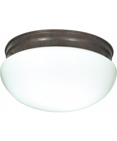 "Nuvo Lighting SF76/604 2 Light 12"" Flush Mount Large White Mushroom"