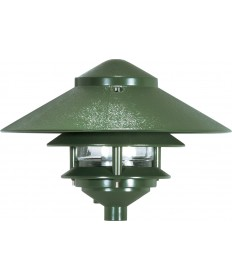 "Nuvo Lighting SF76/634 Pagoda Garden Fixture Large 10"" Hood 1 light 2"