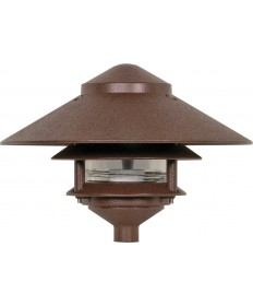 "Nuvo Lighting SF76/635 Pagoda Garden Fixture Large 10"" Hood 1 light 2"