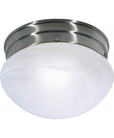 "Nuvo Lighting SF76/671 1 Light 8"" Flush Mount Small Alabaster Mushroom"