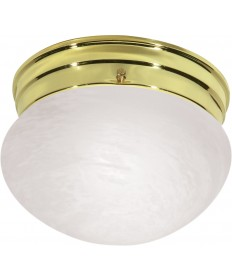 "Nuvo Lighting SF76/672 1 Light 8"" Flush Mount Small Alabaster Mushroom"