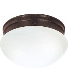 "Nuvo Lighting SF76/673 2 Light 10"" Flush Mount Medium Alabaster"