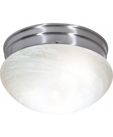 "Nuvo Lighting SF76/674 2 Light 10"" Flush Mount Medium Alabaster"