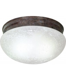 "Nuvo Lighting SF76/676 2 Light 12"" Flush Mount Large Alabaster"