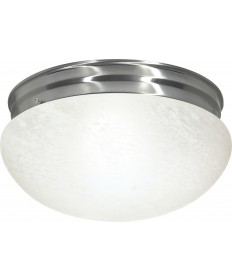 "Nuvo Lighting SF76/677 2 Light 12"" Flush Mount Large Alabaster"