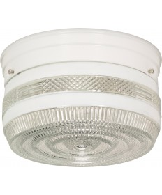"Nuvo Lighting SF77/098 2 Light 8"" Flush Mount Medium Crystal / White"