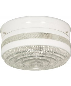"Nuvo Lighting SF77/099 2 Light 10"" Flush Mount Large Crystal / White"