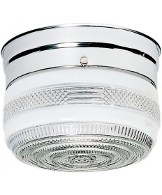 "Nuvo Lighting SF77/100 1 Light 6"" Flush Mount Small Crystal / White"