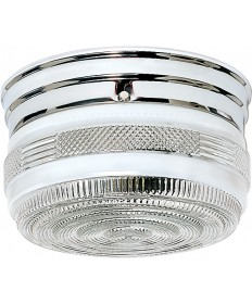 "Nuvo Lighting SF77/101 2 Light 8"" Flush Mount Medium Crystal / White"