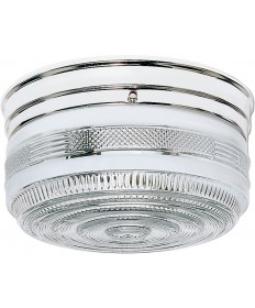 "Nuvo Lighting SF77/102 2 Light 10"" Flush Mount Large Crystal / White"