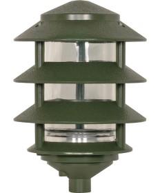 Nuvo Lighting SF77/324 Pagoda Garden Fixture Small Hood 1 light 3 Tier