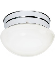 "Nuvo Lighting SF77/345 1 Light 8"" Flush Mount Small White Mushroom"