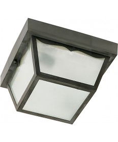 """Nuvo Lighting SF77/863 1 Light 8"""" Carport Flush Mount With Frosted"""