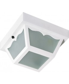 """Nuvo Lighting SF77/879 2 Light 10"""" Carport Flush Mount With Frosted"""