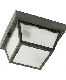 """Nuvo Lighting SF77/891 2 Light 10"""" Carport Flush Mount With Frosted"""