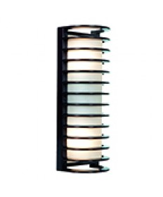 Access Lighting 20030MG-BRZ/RFR Bermuda Collection Bronze Ribbed Frosted Glass Marine Grade Wet Location Bulkhead