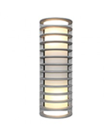 Access Lighting 20030MG-SAT/RFR Bermuda Collection Satin Ribbed Frosted Glass Marine Grade Wet Location Bulkhead