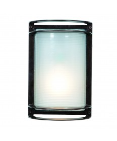 Access Lighting 20011LEDDMGLP-BRZ/RFR Nevis Collection Marine Grade Wet Location LED Bulkhead Bronze Ribbed Frosted Glass